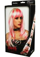 Courtney Wig - White With Hot Pink