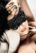 Black Satin/lace Sleep Mask (disc)