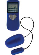 Body And Soul Remote Ii Egg Waterproof Blue