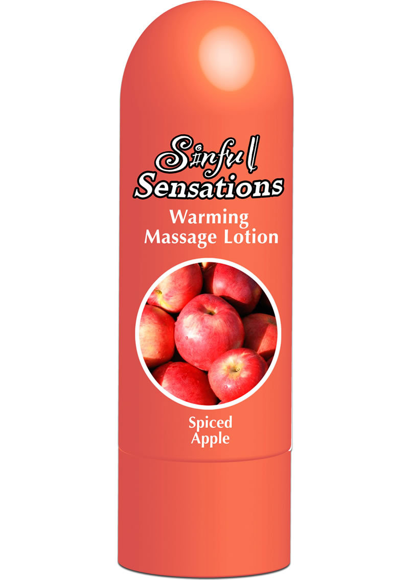 Sinful Sensations Warming Massage Lotion Spiced Apple 6.75 Ounce