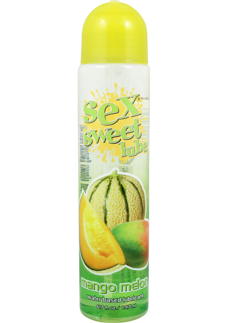 Sex Sweet Lube Flavored Water Based Lubricant Mango Melon 6.7 Ounce