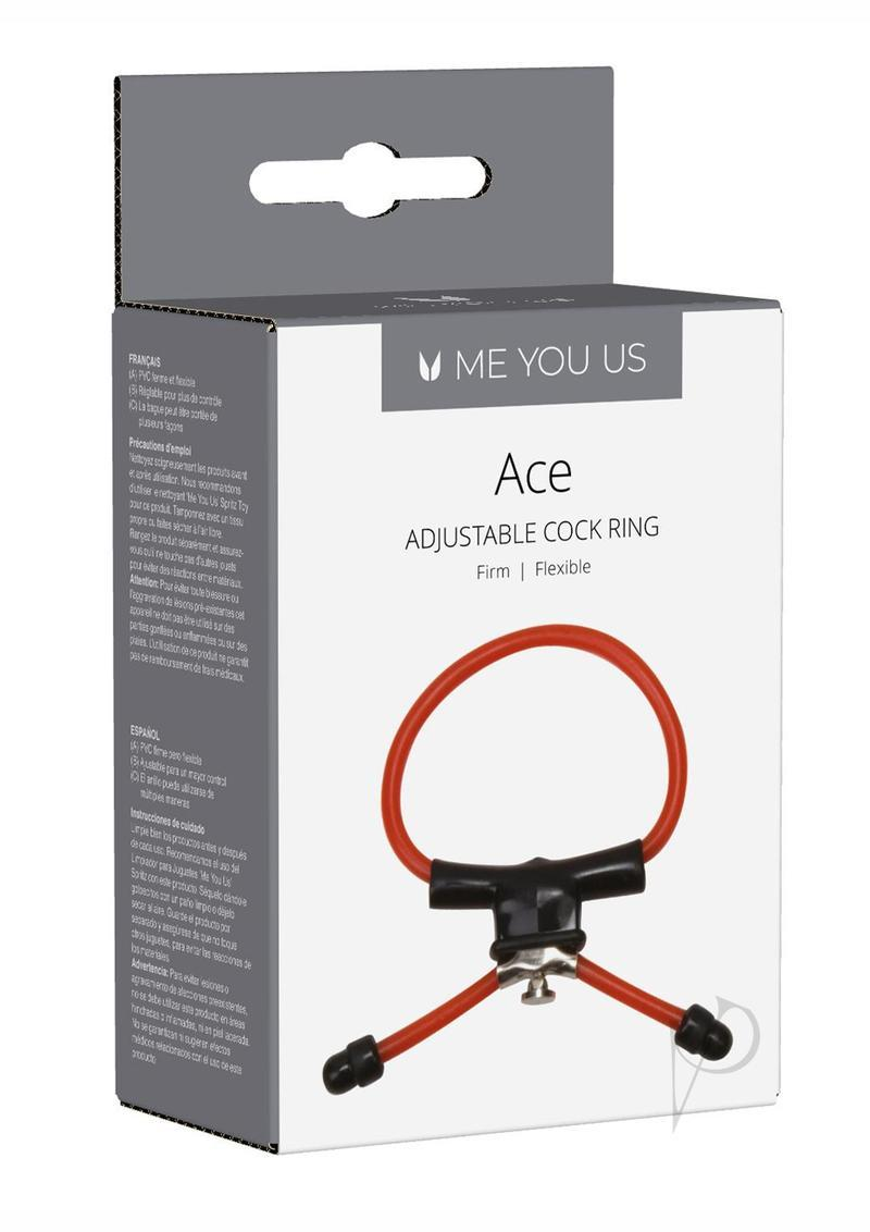 Ace Adjustable Cock Ring Linx Red