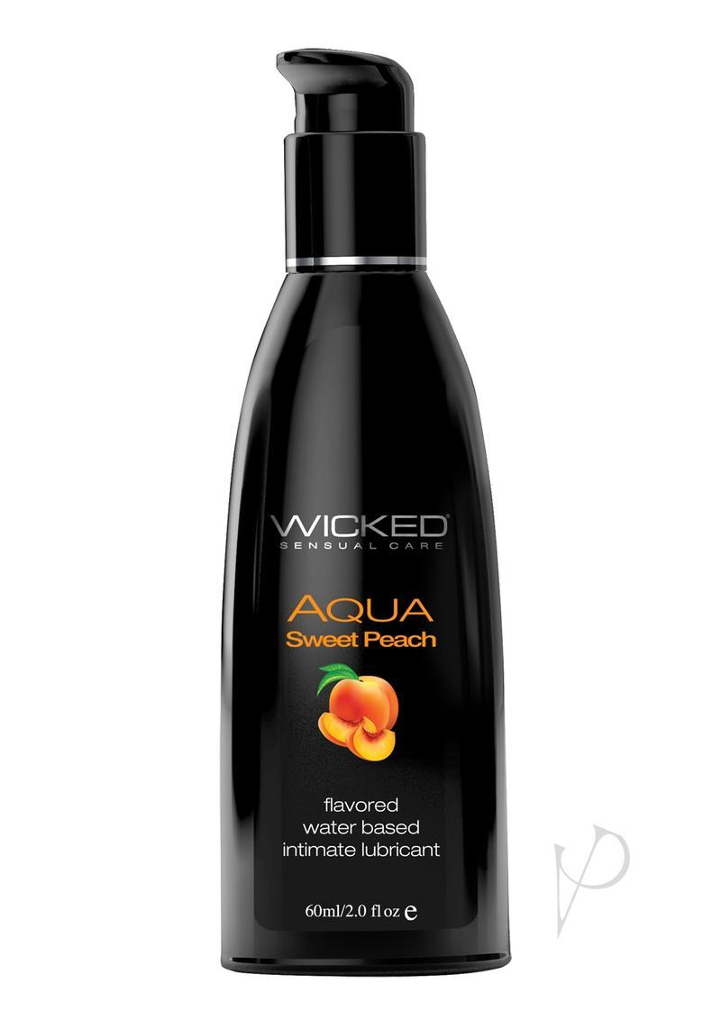 Wicked Aqua Flavored Water Based Lubricant Sweet Peach 2 Ounce